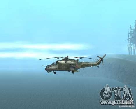Mi-24p for GTA San Andreas right view
