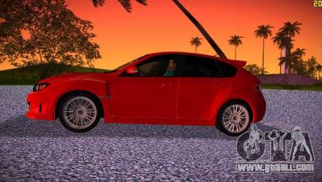 Subaru Impreza WRX STI (GRB) - LHD for GTA Vice City left view