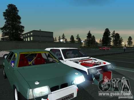 VAZ 2109 drag for GTA San Andreas inner view