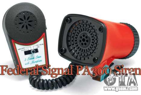 Federal PA300 siren for GTA 4