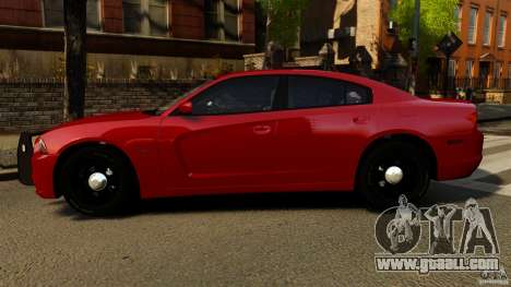 Dodge Charger RT Max FBI 2011 [ELS] for GTA 4 left view