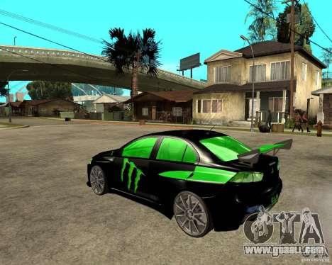 Mitsubishi Lancer Evolution X E&R Prod for GTA San Andreas left view