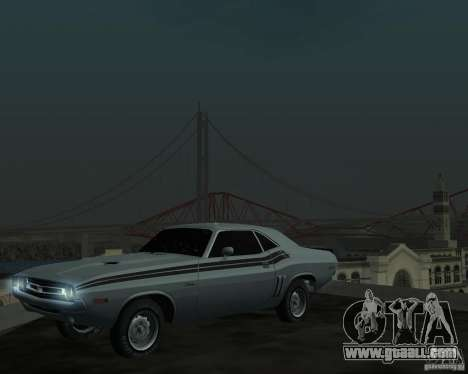 Dodge Chellenger V2.0 for GTA San Andreas left view