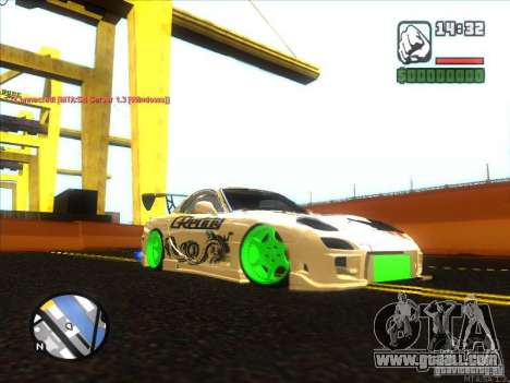 Mazda RX-7 Drift Version for GTA San Andreas back left view