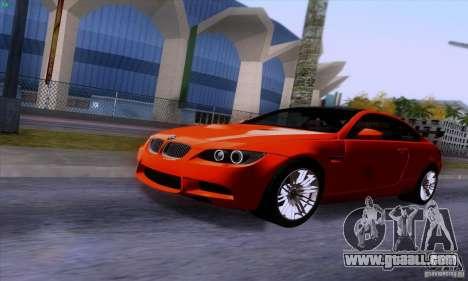 BMW M3 E92 v1.0 for GTA San Andreas inner view