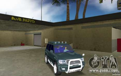 Toyota Land Cruiser 100 for GTA Vice City back view