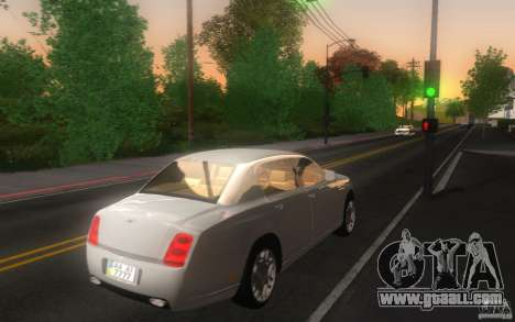 Bentley Continental Flying Spur for GTA San Andreas back left view