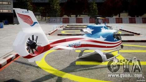 Eurocopter EC 130 B4 USA Theme for GTA 4 side view
