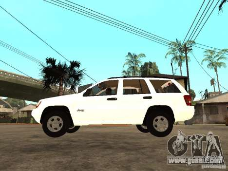 Jeep Grand Cherokee 99 for GTA San Andreas left view