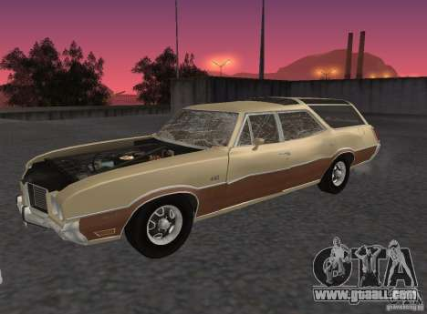Oldsmobile Vista Cruiser 1972 for GTA San Andreas back view