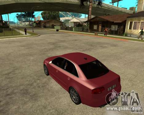 Audi S4 tunable for GTA San Andreas left view
