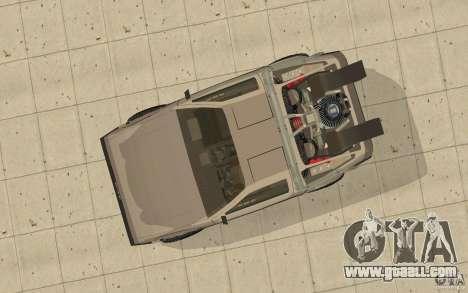 DeLorean DMC-12 (BTTF1) for GTA San Andreas right view