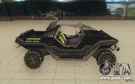 Halo Warthog for GTA San Andreas back view