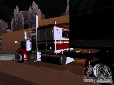 Peterbilt 389 Custom 2009 for GTA San Andreas back view