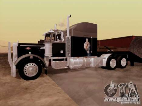 Peterbilt 378 Custom for GTA San Andreas inner view