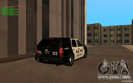 Chevrolet Tahoe SAPD for GTA San Andreas back left view