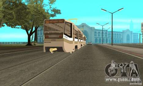 Tramcar 71-619 CT (KTM-19) for GTA San Andreas left view