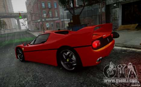 Ferrari F50 1995 for GTA 4 inner view