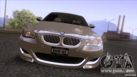 BMW M5 2009 for GTA San Andreas upper view