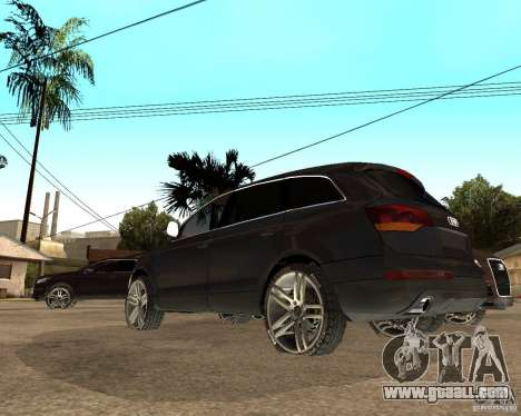Audi Q7 4.2 FSI for GTA San Andreas back left view