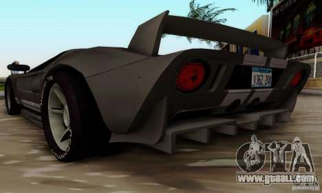 Ford GT Tuning for GTA San Andreas back left view