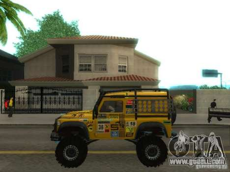 Land Rover Defender Off-Road for GTA San Andreas left view