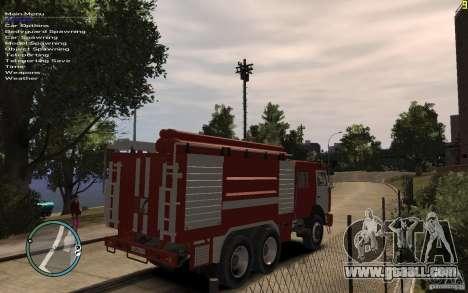 Kamaz FIREFIGHTER for GTA 4 back left view