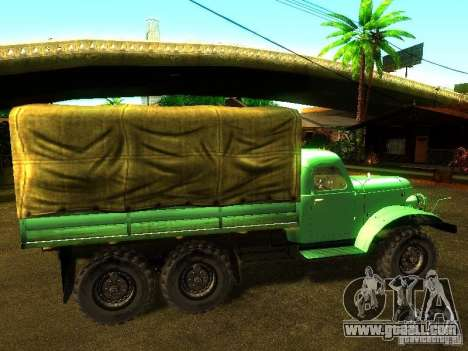ZIL 157 Truman for GTA San Andreas left view