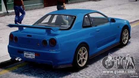 Nissan Skyline GT-R 34 V-Spec for GTA 4 interior