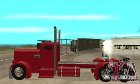 Peterbilt Coupe for GTA San Andreas back left view