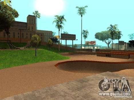 New SkatePark v2 for GTA San Andreas fifth screenshot