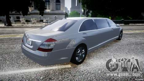 Mercedes-Benz S600 Guard Pullman 2008 for GTA 4 left view