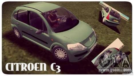 Citroen C3 for GTA Vice City