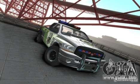 Dodge Ram 1500 POLICE 2008 for GTA San Andreas back left view