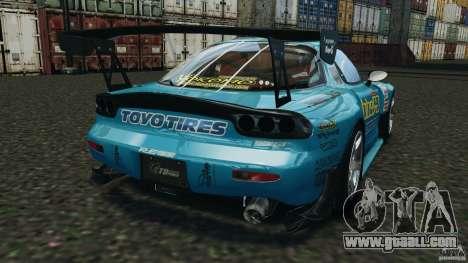 Mazda RX-7 RE-Amemiya v2 for GTA 4 back left view