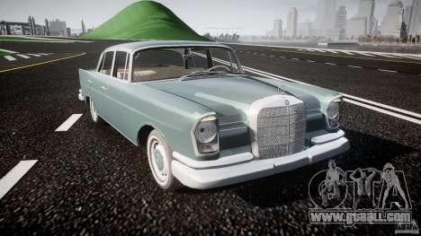 Mercedes-Benz W111 v1.0 for GTA 4 inner view