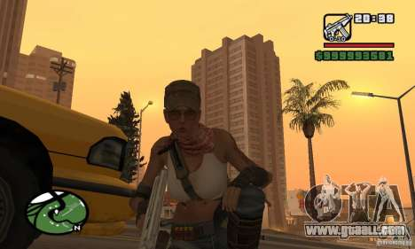 The new military girl for GTA San Andreas