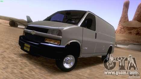 Chevrolet Savana 3500 Cargo Van for GTA San Andreas left view