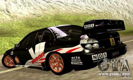 Subaru Impreza WRC 2007 for GTA San Andreas side view