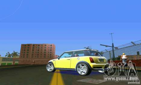 Mini Cooper S for GTA Vice City back left view