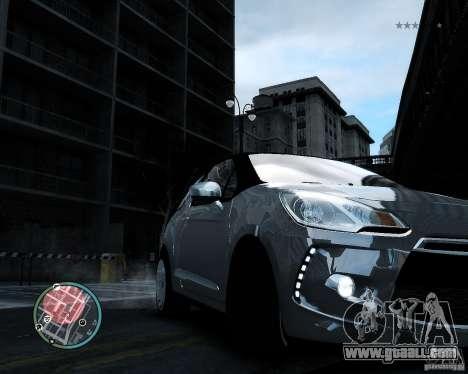 Citroen DS3 2011 for GTA 4 inner view