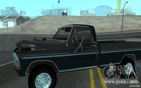 Ford F150 Ute 1976 for GTA San Andreas inner view