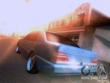 Mercedes-Benz S-Class W140 for GTA San Andreas back view