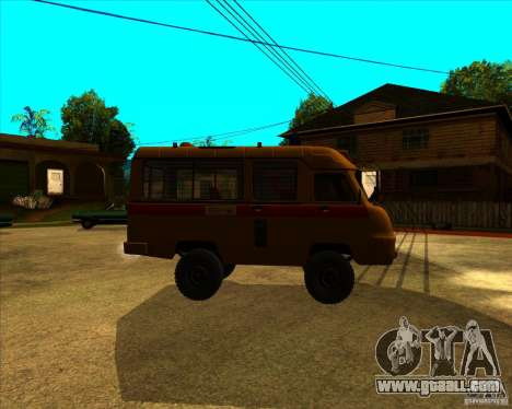 UAZ 3962 Medical for GTA San Andreas left view