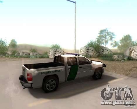 Chevrolet Silverado Police for GTA San Andreas back left view