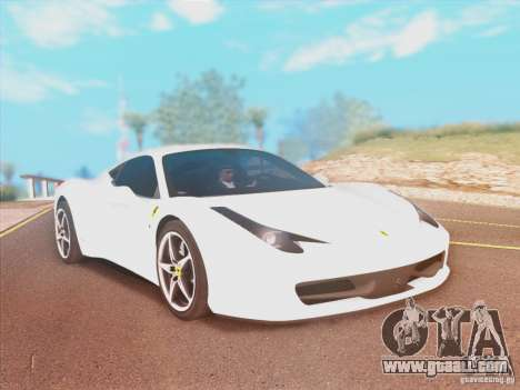 Ferrari 458 2010 for GTA San Andreas
