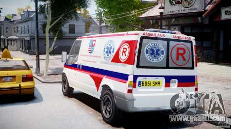 Ford Transit Polish Ambulance [ELS] for GTA 4 back left view