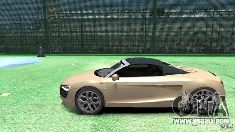 Audi R8 Spyder v10 [EPM] for GTA 4 left view