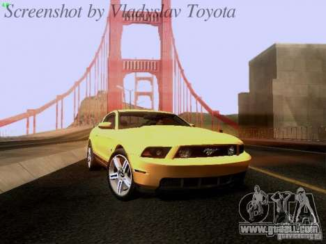 Ford Mustang GT 2011 for GTA San Andreas back left view