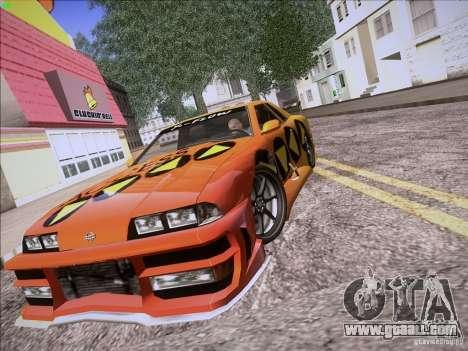Elegy Cabrio Edition for GTA San Andreas inner view